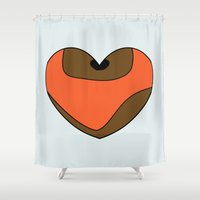 ewok Shower Curtains featuring Wicket Character Heart by Hugh & West