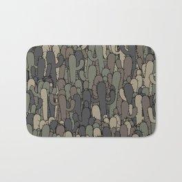 Camouflage cactuses Bath Mat