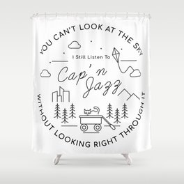 Cap'n Jazz Shower Curtain
