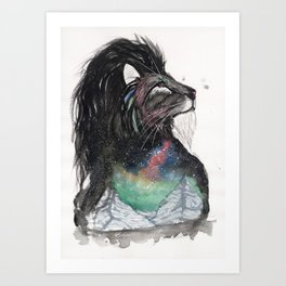 Realis the Aurora Lion. Art Print