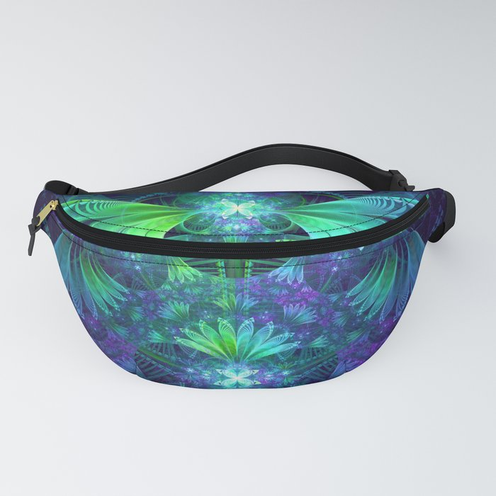 The Clockwork Kite Wings of a Blue-Green Dragonfly Fanny Pack