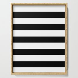 black stripes Serving Tray