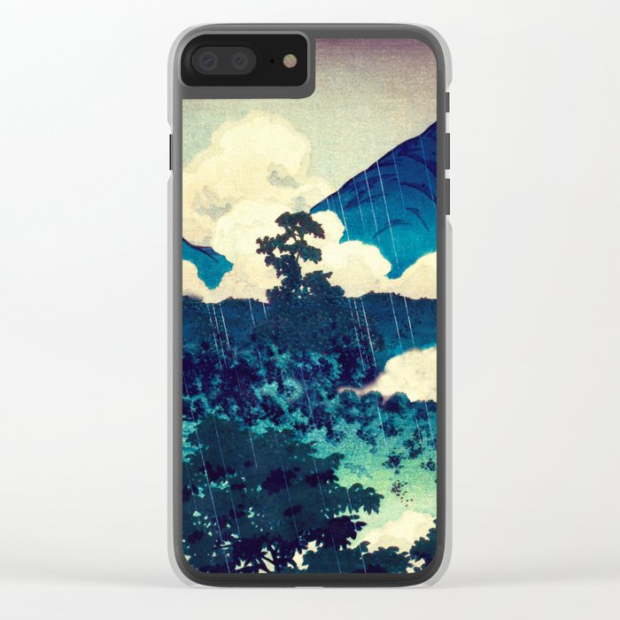 Under the Rain in Doyi Clear iPhone Case