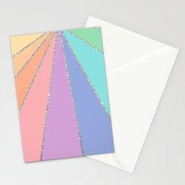 Rainbow Glitter Stationery Cards
