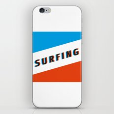 SURFING 3D - Square iPhone & iPod Skin