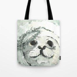 White Seal Tote Bag