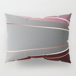 Pink, brown, grey, Golden Pillow Sham