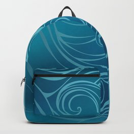 Blue Marine Background Backpack