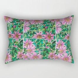 Flower in a Frame Rectangular Pillow