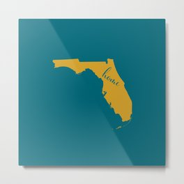 Florida is Home - Go Jaguars Metal Print