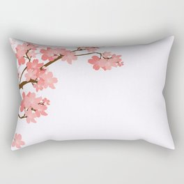 Blooming cherry tree Rectangular Pillow