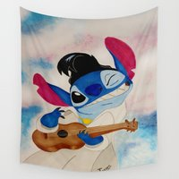 stitch Wall Tapestries featuring Stitch by Goolpia