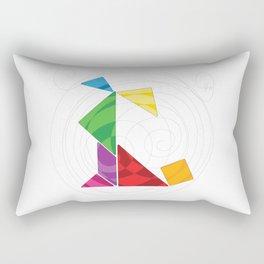 Sitting dog tangram Rectangular Pillow