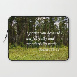 Fearfully and Wonderfully Made Laptop Sleeve