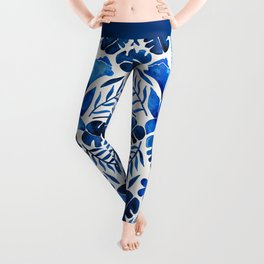 Tropical Symmetry – Navy Leggings