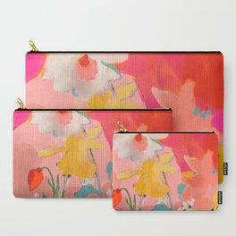 blooming abstract pink Carry-All Pouch