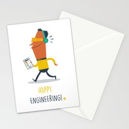 Happy Engineering Stationery Cards