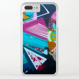 Color Rounds Clear iPhone Case