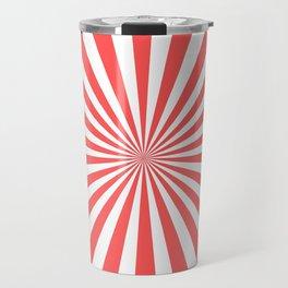 Starburst (Red & White Pattern) Travel Mug