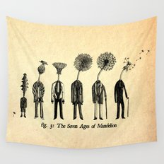The Seven Ages of Mandelion Wall Tapestry