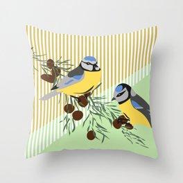 two birds in harmonie Throw Pillow