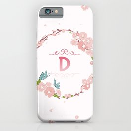 Letter D iPhone Case