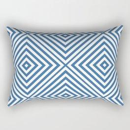 Azure Elegant Diamond Chevron Rectangular Pillow