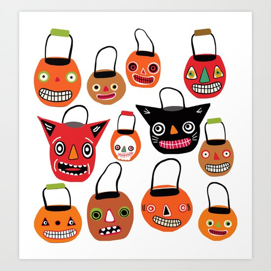 Trick Or Treat Halloween Art Print