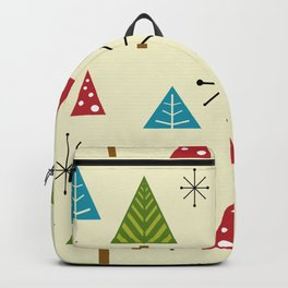 Mid Century Modern Christmas Trees Backpack