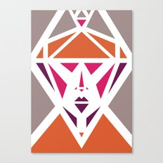 Five Triangle Faces - The Lady Canvas Print