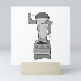 shakin smoothie shaker Mini Art Print