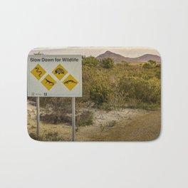 The Australian Roadtrip of Wildlife Road Signs Bath Mat
