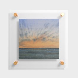 Sky and Ocean IV / Watercolor Painting Floating Acrylic Print