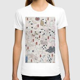 Cats for the 53 stations of the Tokaido - Utagawa Kuniyoshi, (1847) T-shirt