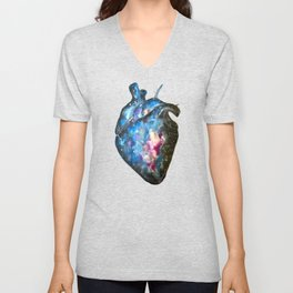 Galaxy heart Unisex V-Neck