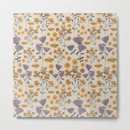 Wildflower Watercolor Floral Metal Print
