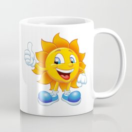 smiling sun cartoon Coffee Mug