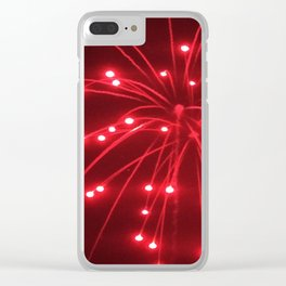 Red Fireworks Clear iPhone Case