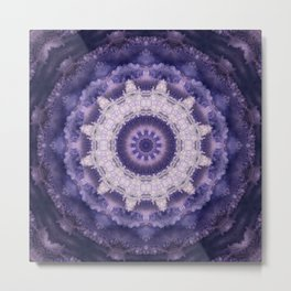 Mandala in purple colors . Metal Print
