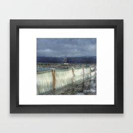 Harbor Ice Framed Art Print