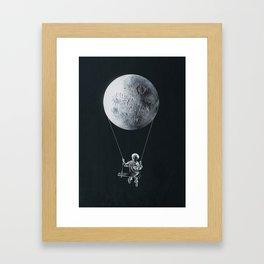 A Big Balloon Framed Art Print