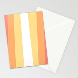 70s Retro Hippie Stripes Palette Stationery Cards