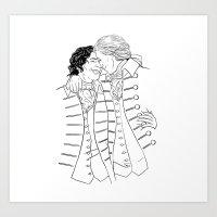 Martin & Henry Art Print