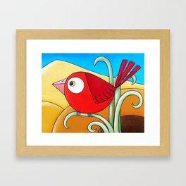 Little Red Bird  Framed Art Print