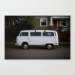 side streets in white Canvas Print