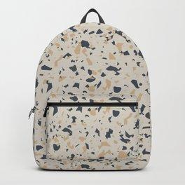 Terrazzo Pattern - Neutral Beige, Blue, Light Orange Backpack