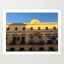 Historical Building on Menorca Art Print
