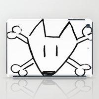 bull terrier iPad Cases featuring Bull Terrier Skull by Chiaris