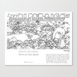 """Valparaiso"" en Mots & Image (French touch) by Shyle Zalewski Canvas Print"