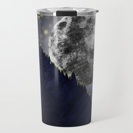 Moonlight on the enchanted forest Travel Mug